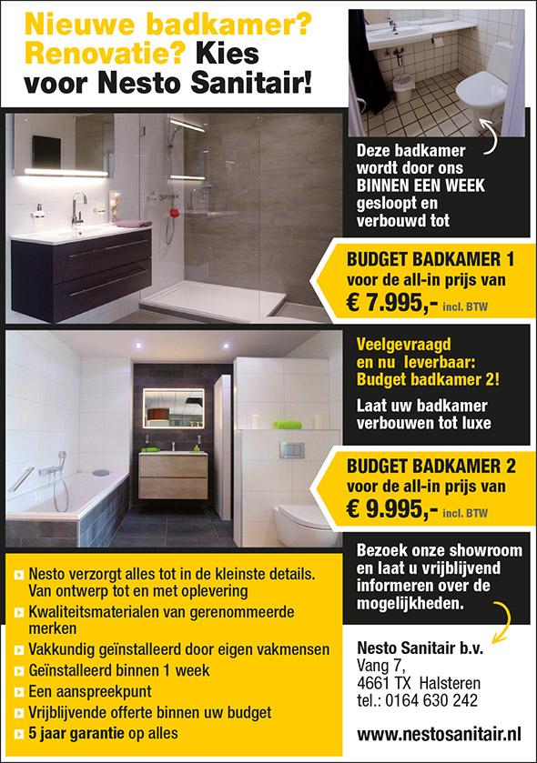 Budget badkamer 1 en 2